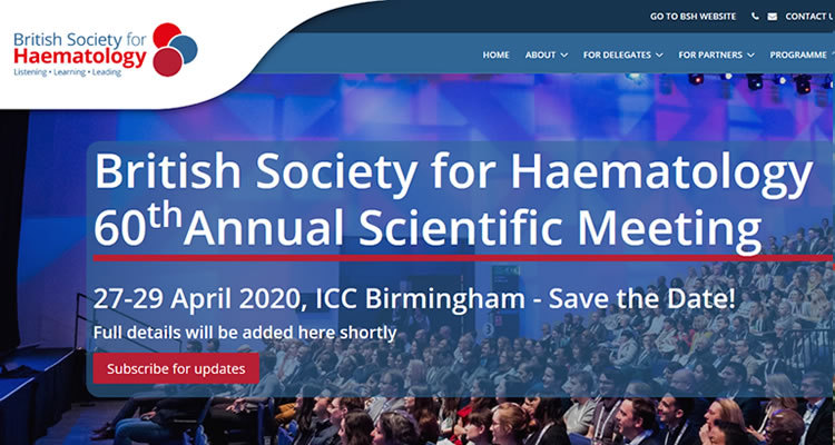 British Society for Haematology 60th Annual Scientific Meeting