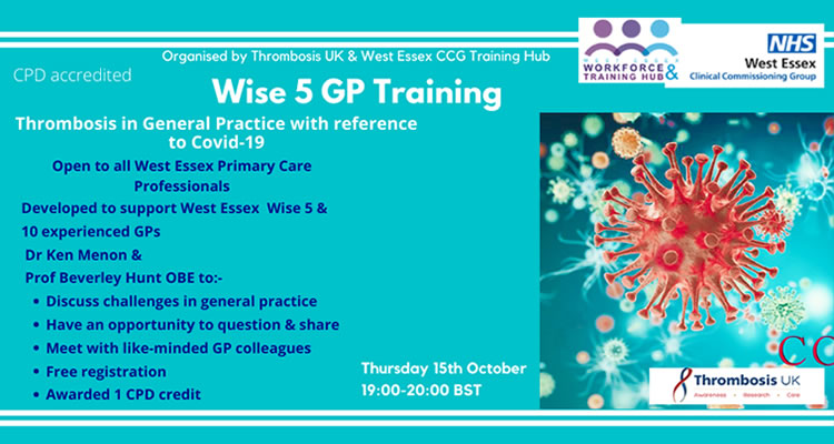 Thrombosis in General Practice with reference to Covid-19 webinar
