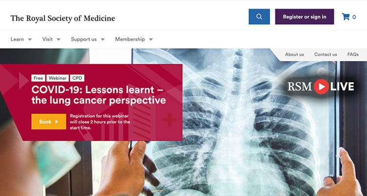 The Royal Society of Medicine:  COVID-19: Lessons learnt – the lung cancer perspective