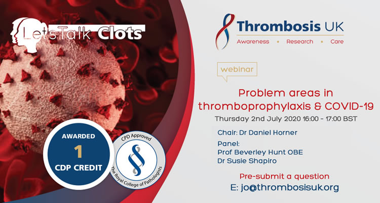 Webinar: Problem areas in thromboprophylaxis and COVID-19