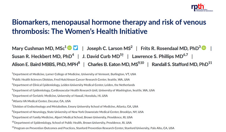 Biomarkers, menopausal hormone therapy and risk of venous thrombosis: The Women's Health Initiative