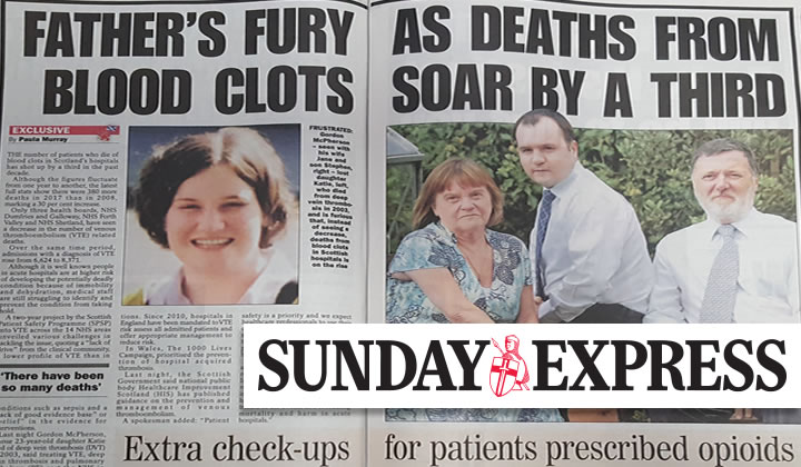 Mixed learning as death rates continue to rise Scotland, Sunday Express September 2019