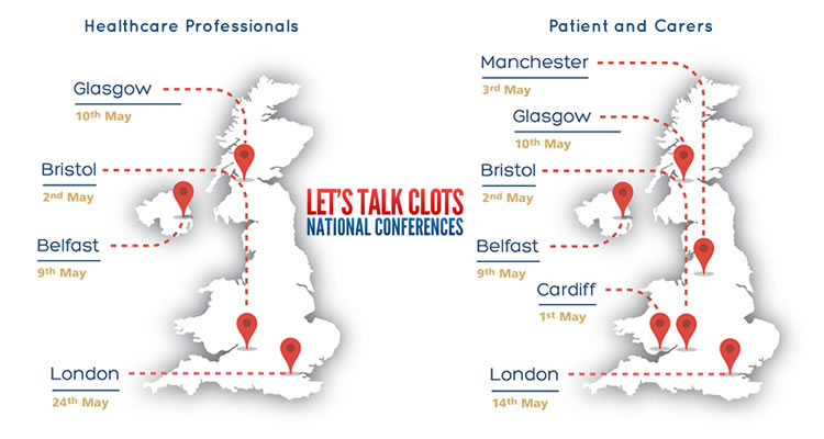 Let's Talk Clots - Venues and Agenda's released