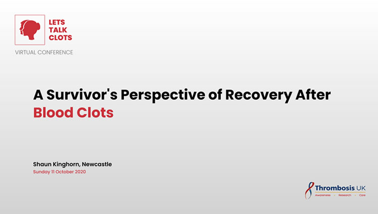 Thrombosis UK Video | A Survivor's Perspective of Recovery After Blood Clots