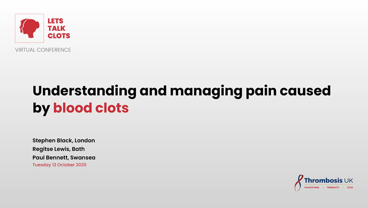 Thrombosis UK Video | Understanding and managing pain caused by blood clots